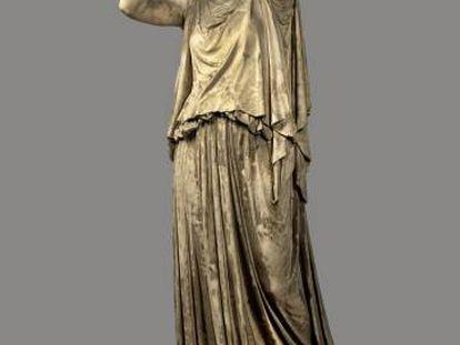 Antígona, en una escultura en yeso de William Henry Rinehart, en el Museo Smithsoniano de Arte Americano, en Washington.