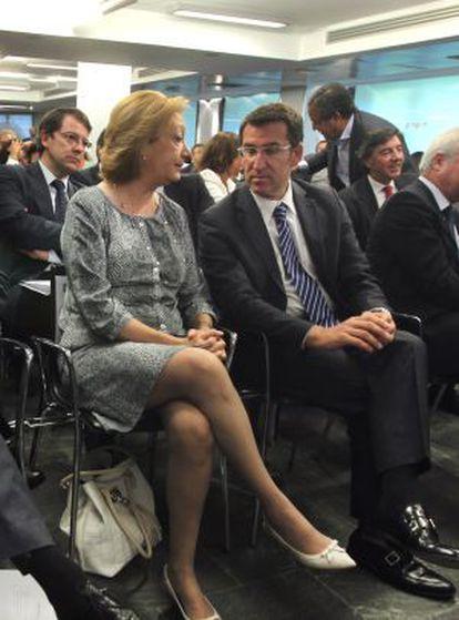 Alberto Fabra, José Ramón Bauzá, Luisa Fernanda Rudi y Alberto Núñez Feijóo durante la Junta Directiva Nacional del PP.