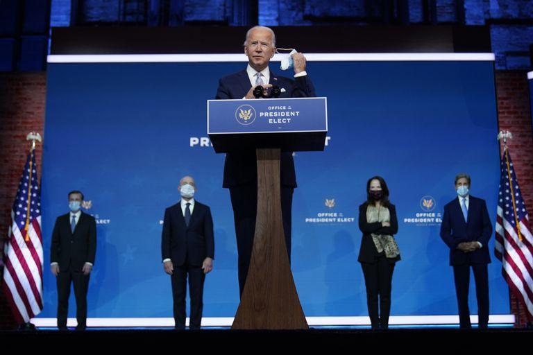 Joe Biden presenta a los designados a puestos clave de seguridad nacional y política exterior en el teatro The Queen