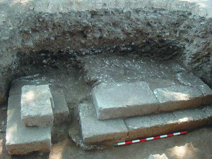 Sepulcro del príncipe íbero hallado en Alarcos.