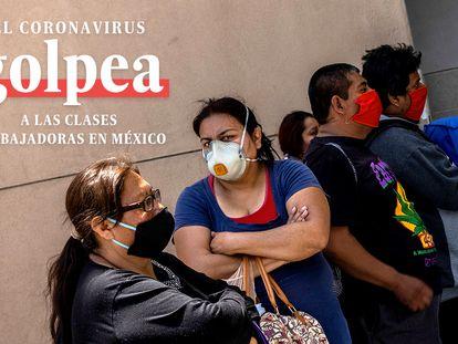 Una mujer espera en un hospital de Tijuana.