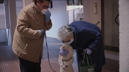 Matilde llega a su casa tras recibir el alta en el hospital.