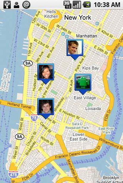 Una nueva aplicación de Google permite localizar a los contactos del móvil en cada momento.