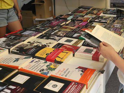 Caseta de Tusquets en la Feria del Libro.