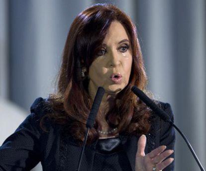 Cristina Fernández en presentación del proyecto judicial