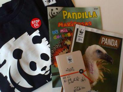 Pack de regalos de WWF de nuestro sorteo por la Hora del Planeta.
