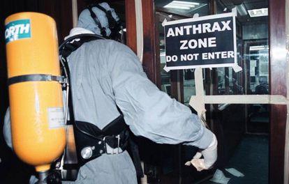 Labores de desinfección de ántrax.