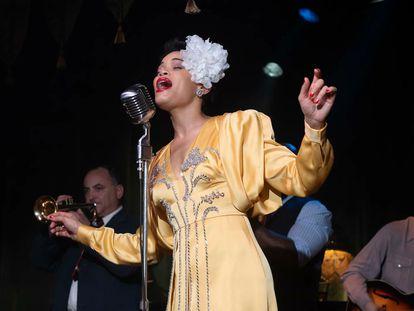 Andra Day en 'Los Estados Unidos contra Billie Holiday'.