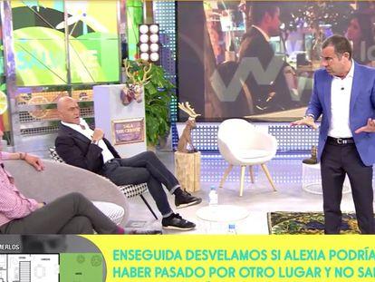 Jorge Javier Vázquez (derecha), habla con Antonio Moreno (izquierda) en el programa del lunes pasado.