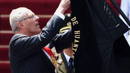 El presidente Pedro Pablo Kuczynski en un acto conmemorativo en Lima, el pasado jueves.