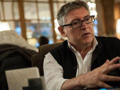 Michel Onfray durante una entrevista en Deauville (Francia)