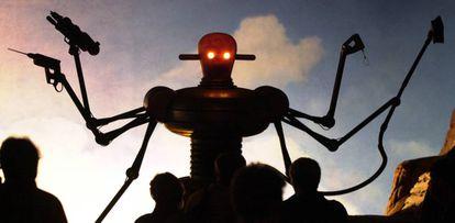 Un robot armado, en una exposición en Hanover (Alemania), en el año 2000.