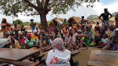 Actividades para mejorar la salud mental de los desplazados en Cabo Delgado.