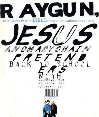 El número 19 de la revista Ray Gun innovó incluso a la hora de ubicar el código de barras.