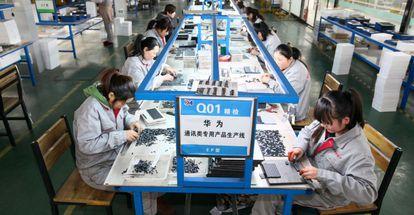 Compañía de componentes electrónicos en Tengzhou (China).