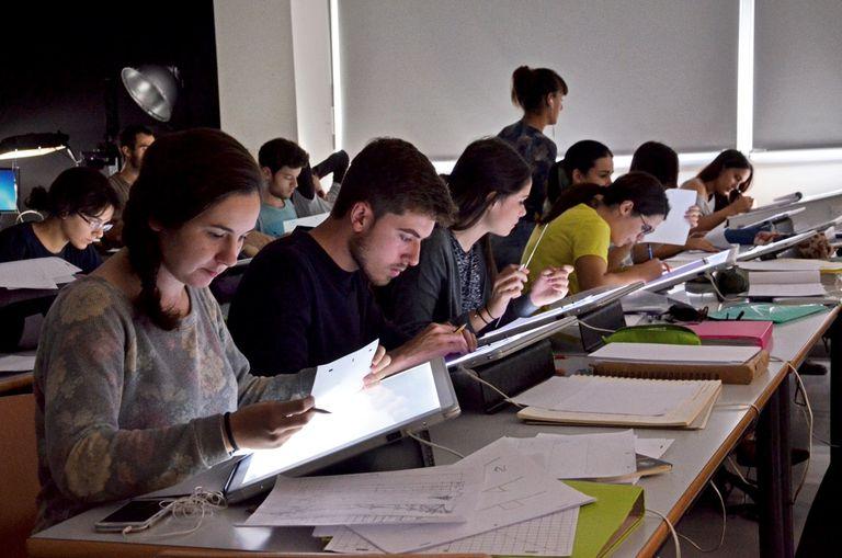 Alumnos del grado en Diseños y Tecnologías Creativas de la Universidad Politécnica de Valencia.