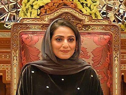 La primera dama de Omán, Ahad Bint Abdullah Bin Hamad al Busaidi, esposa del sultán Haitham, en su presentación en sociedad en octubre.