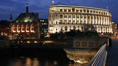 Sede de la Unilever británica, junto al puente de Blackfriars, en Londres.