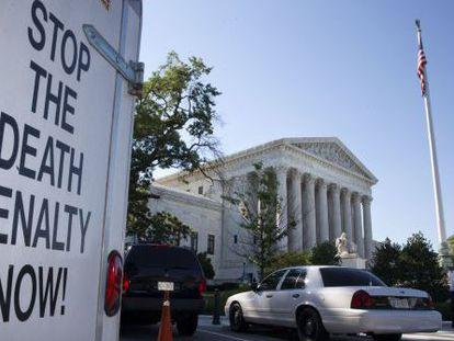 Protesta contra la pena de muerte ante el Supremo.