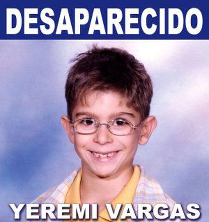 Yéremi Vargas desapareción en 2007.