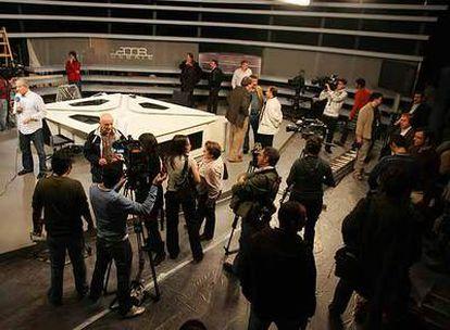 Los preparativos del debate de febrero de 2008 entre Zapatero y Rajoy.