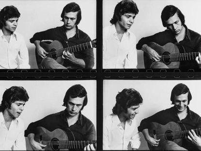Paco de Lucía y Camarón de la Isla en la serie de fotografías realizada por Pepe Lamarca en los años setenta.