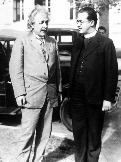 Albert Einstein y Georges Lemaitre