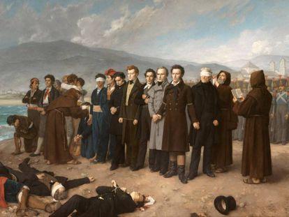 'Fusilamiento de Torrijos y sus compañeros en las playas de Málaga' (1888), de Antonio Gisbert.