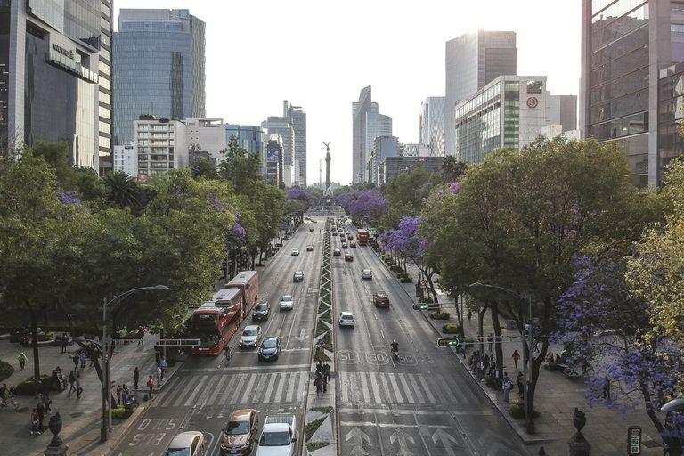 Imagen de archivo del Paseo de la Reforma, en Ciudad de México.