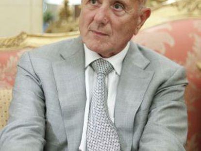 Ahmed Nejib Chebbi, durante la entrevista, en el hotel Ritz de Madrid.