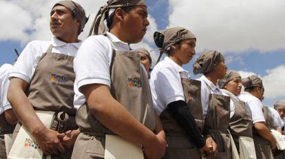Alumnos de Manq'a, las nuevas escuelas de cocina de Claus Meyer.