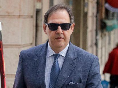 El juez Manuel Penalva en los juzgados de Palma, en febrero de 2018.