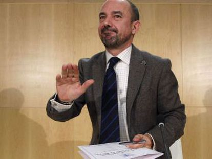 Miguel Ángel Villanueva, en un momento de la rueda de prensa.