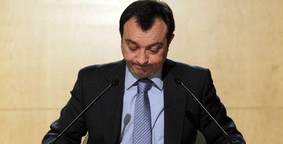 Manuel Cobo, el día que anunció su renuncia.