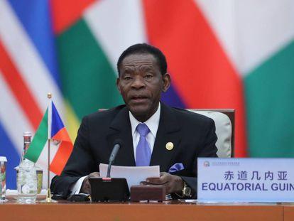 Teodoro Obiang, en una cumbre en Pekín el año pasado.