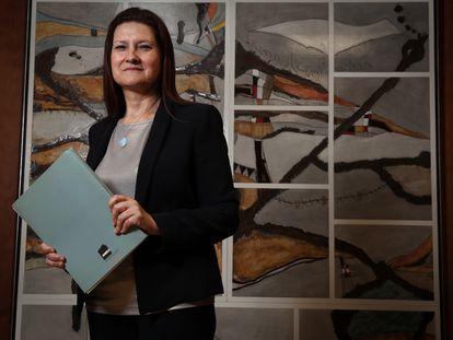 Mercedes Siles, directora de Aneca, el viernes pasado en la sede de la agencia en Madrid.