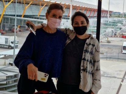 La última imagen publicada de la jequesa Latifa, en el aeropuerto de Madrid hace unos días.