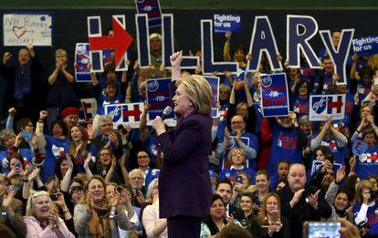 Hillary Clinton celebra un evento en Nashua, New Hampshire.