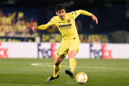 Gerard Moreno, in a match with Villarreal.