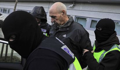 Santi Potros tras su detención, en enero pasado.