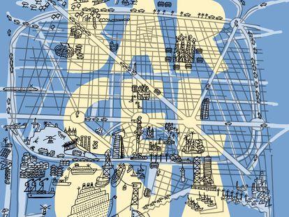 Mariscal reinventa su clásico cartel de Barcelona diseñado en 1979.