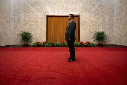 El presidente chino, Xi Jinping, en el Gran Salón del Pueblo, en Pekín en 2013.