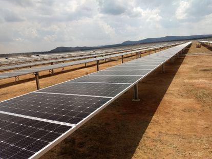 Un parque solar en el Estado de San Luis Potosí, en el centro de México.