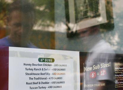 En Nueva York, los restaurantes deben informar de las calorías que tiene cada plato del menú.