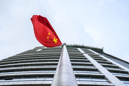 La oficina de inteligencia de Seguridad Nacional del Gobierno Chino, en Hong Kong, tras su inauguración, el 8 de julio de 2020.