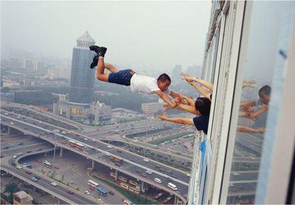 Fotografía realizada en el piso 29 de un rascacielos en Pekín.