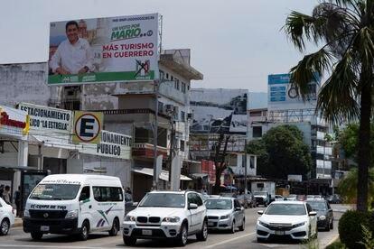 Propaganda electoral de Mario Moreno Arcos en Acapulco.