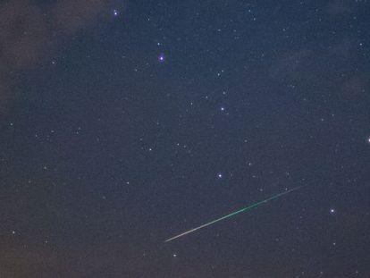 Una estrella fugaz fotografiada desde Sieversdorf (Alemania).