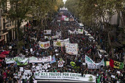 Una imagen de la última marcha en Buenos Aires, a la que asistieron 150.000 personas.