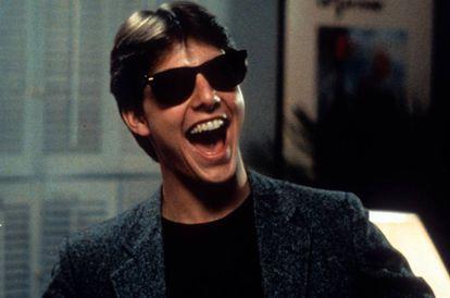 Un jovencísimo Tom Cruise, en una escena de 'Risky Business' (1983), justo al principio de su carrera. A pesar de lo que se castiga en los rodajes, tampoco ha cambiado tanto en estos casi 40 años.